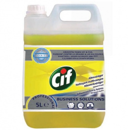 CIF PROFESSIONAL ALL PURPOSE CLEANER LEMON FRESH 5L skoncentrowany preparat do codziennego mycia wodoodpornych, niezabezpieczony